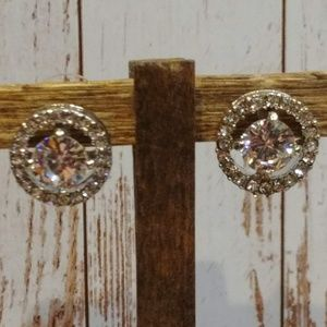 Jewelry - CZ Halo Earrings